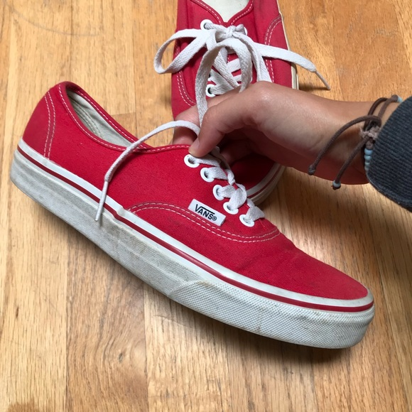 Vans red classic shoes